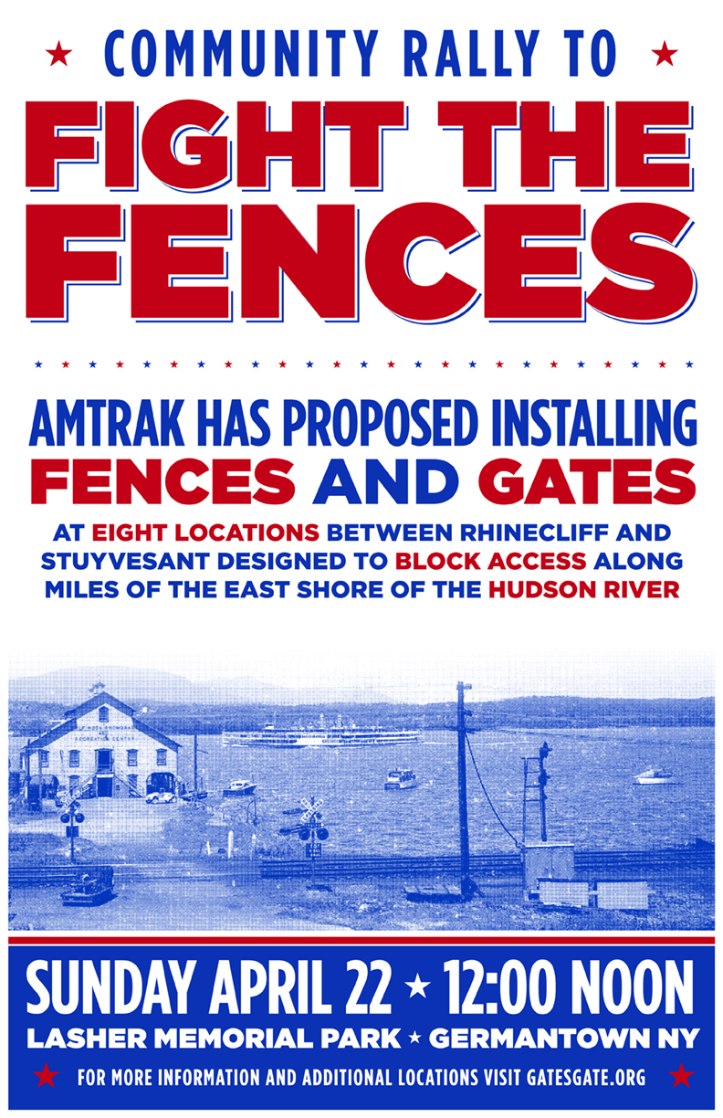 Rally to fight the Fences, April 22, Noon, Lasher Park